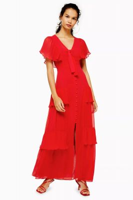 robe rouge Topshop