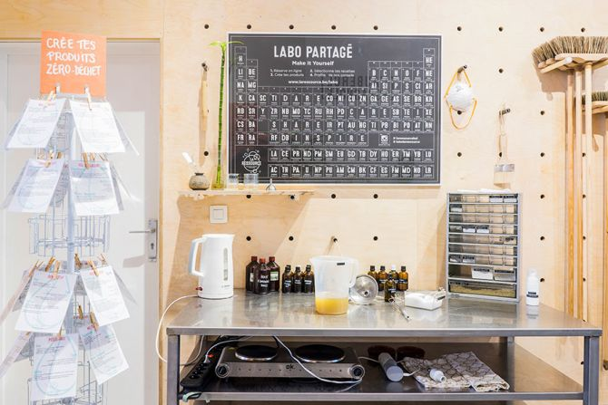 La labo, l'endroit où l'on crée ses propres produits naturels d'entretien ou de beauté