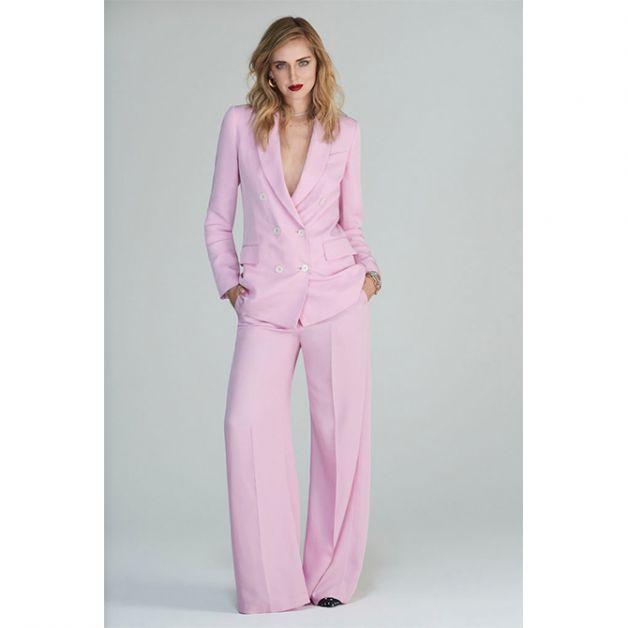 Chiara Ferragni costume rose