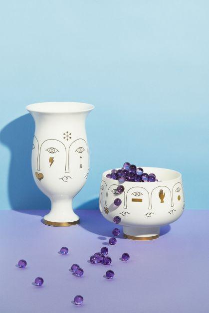vases avec visage Jonathan Adler