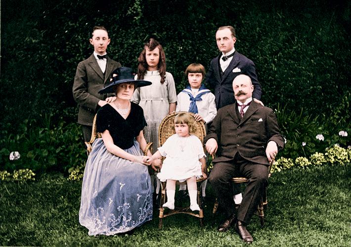 Portrait de la famille Dior, Granville, 1919.