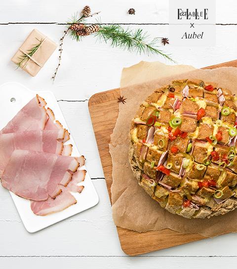 Pain 'cueillette' au Jambon Grillé Aubel®