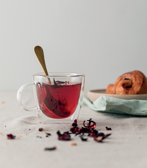 Infusion pomme et hibiscus