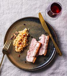 Porc au cidre et compotée de coings
