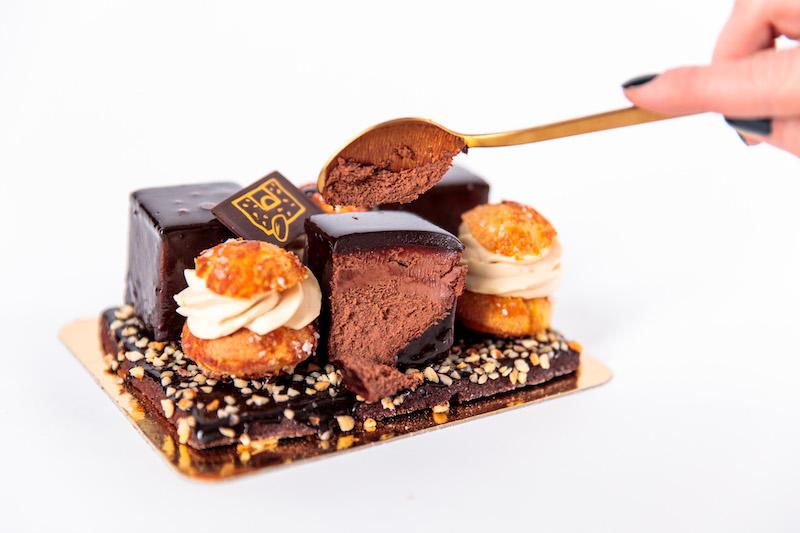 Bûche Profiterole au chocolat