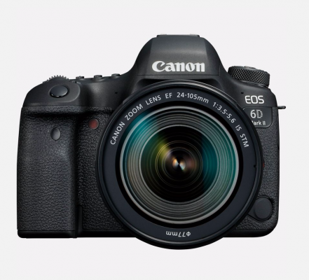 Un appareil photo Canon EOS 6D Mark II + objectif EF 24-105mm f/3.5-5.6 IS STM