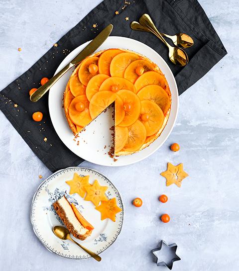 Cheesecake classique aux kakis