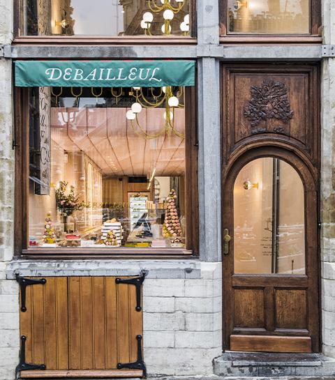 La façade de la chocolaterie pâtisserie Debailleul