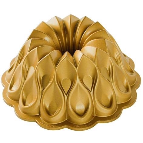 Moule couronne en aluminium doré