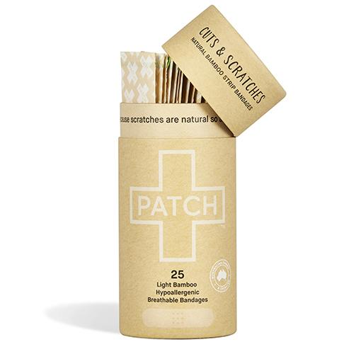 """La gamme """"natural"""" des nouveaux pansements Patch en bambou."""