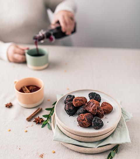 Truffes au chocolat et au Grand Marnier