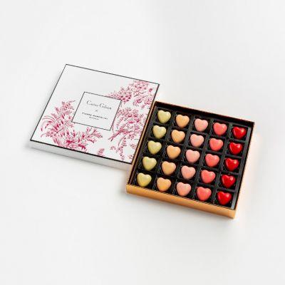 Pierre Marcolini X Carine Gilson coeurs chocolats