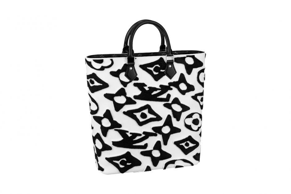 Cabas Louis Vuitton x Urs Fischer en toile Monogram tuffetée Blanc et Noir