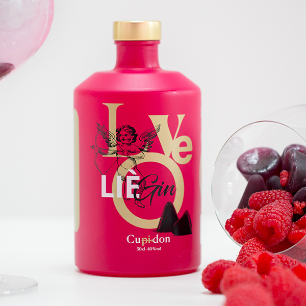 bouteille rose gin