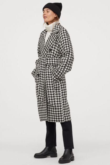 manteau pied-de-poule