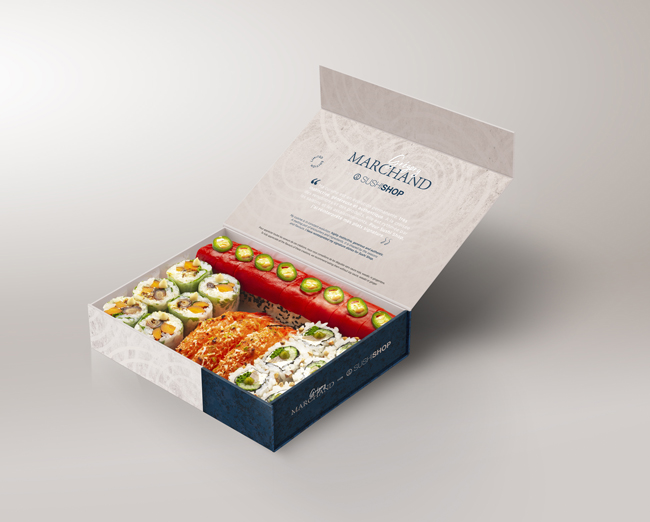 Box Grégory Marchand pour Sushi Shop