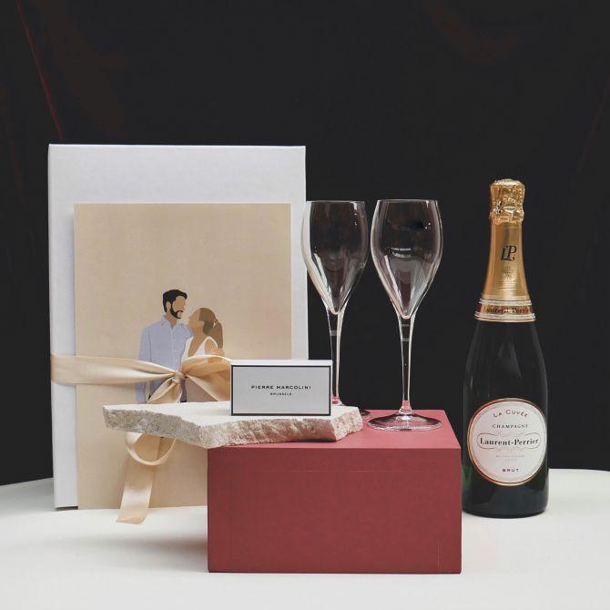 coffret saint-valentin champagne