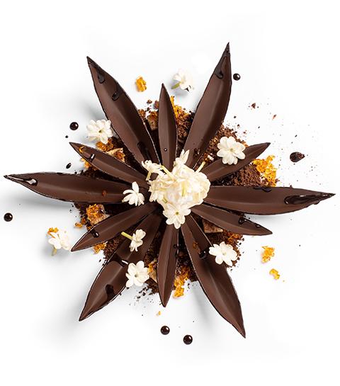 Dessert Flor de cacao par Jordi Roca