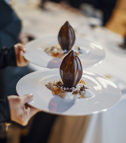 Dessert Flor de cacao en 3D par Jordi Roca