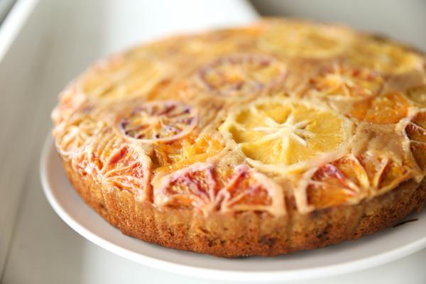 Gâteau aux agrumes d'hiver pour le goûter