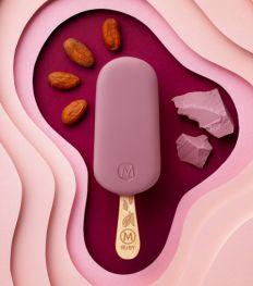 Magnum crée la première glace au chocolat Ruby