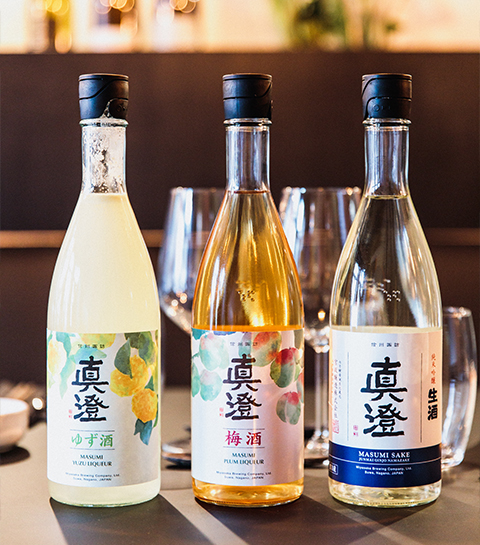 Les sakés du restaurant Masu