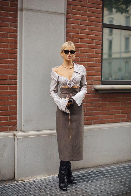 Streetstyle : les beaux looks de la Fashion Week de Milan - 17