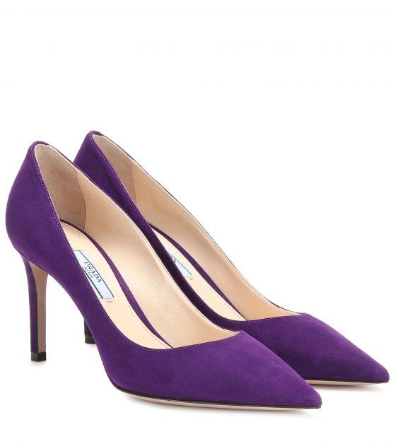 escarpins violets prada
