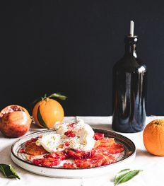 Salade vitaminée d'oranges sanguines et burrata