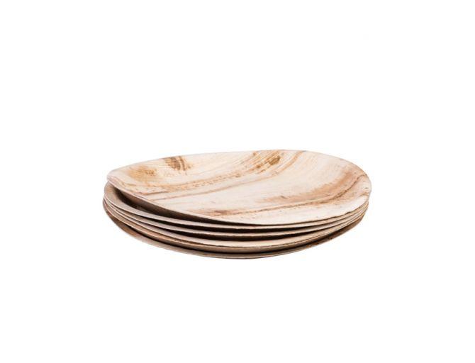 Set de 6 assiettes en feuilles de palmier «Areca Leaf» entièrement compostable