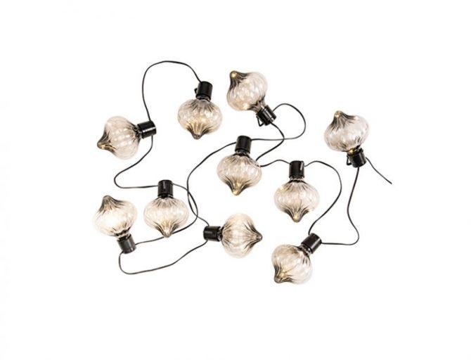 Guirlande « Azis » avec 10 ampoules led, utilisable à l'intérieur comme à l'extérieur