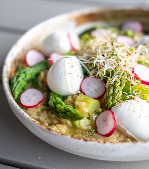 risotto aux asperges vertes et petits pois