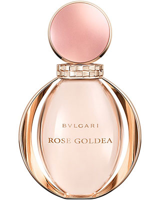 Flacon du parfum Rose Goldea de Bulgari.