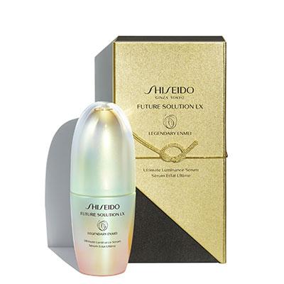 Coffret d'emballage contenant le précieux sérum Legendary Enmei de Shiseido.