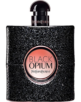 Flacon du parfum Black Opium d'Yves Saint Laurent.