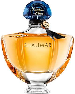 Flacon du célèbre parfum Shalimar de Guerlain.