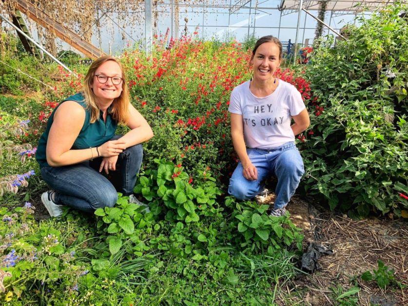 Marie et Valentine, initiatrices de l'entreprise Marie Poppies