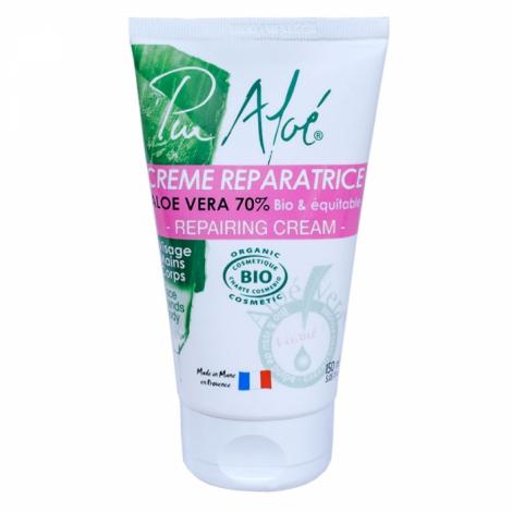 Crème visage et corps réparatrice à haute teneur en aloé vera.