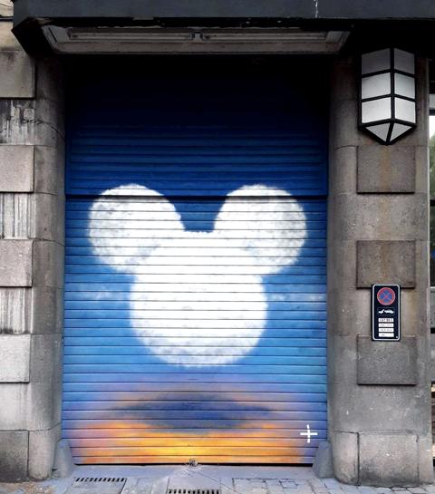 Un parcours de street art Disney s'invite dans les rues de Belgique