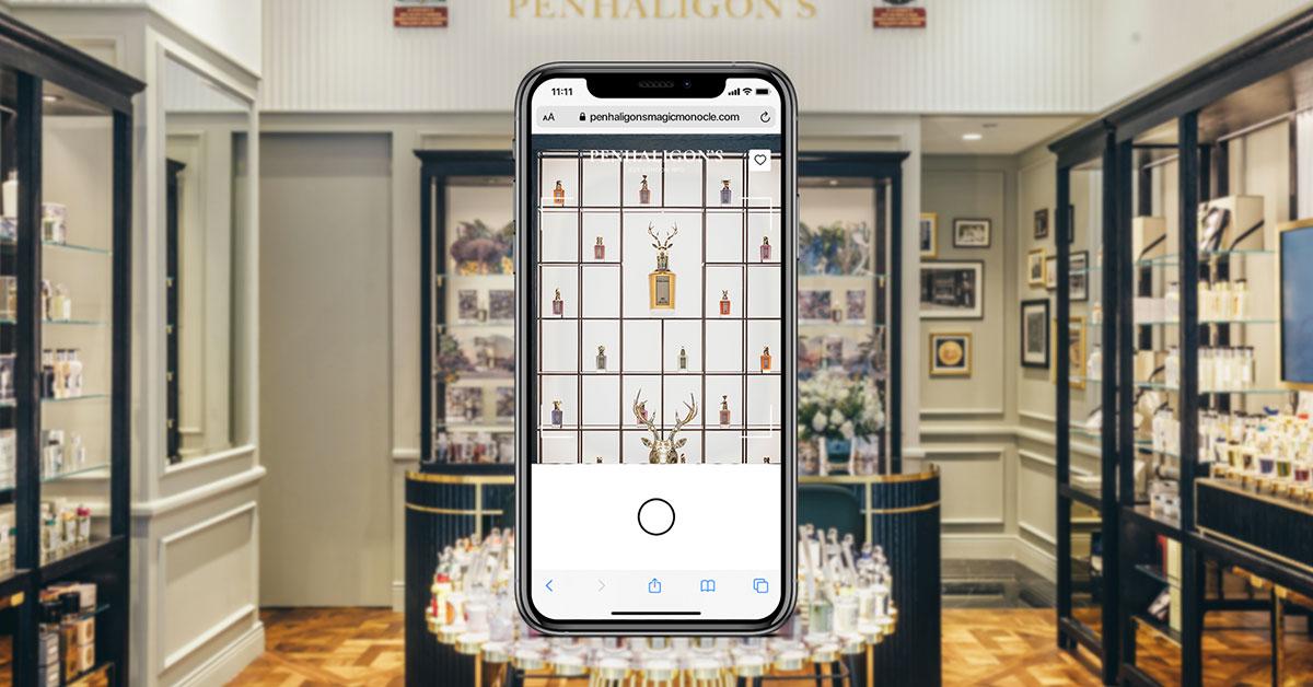 Image montrant la possibilité d'utiliser l'application AI.LICE dans une parfumerie Penhaligon's