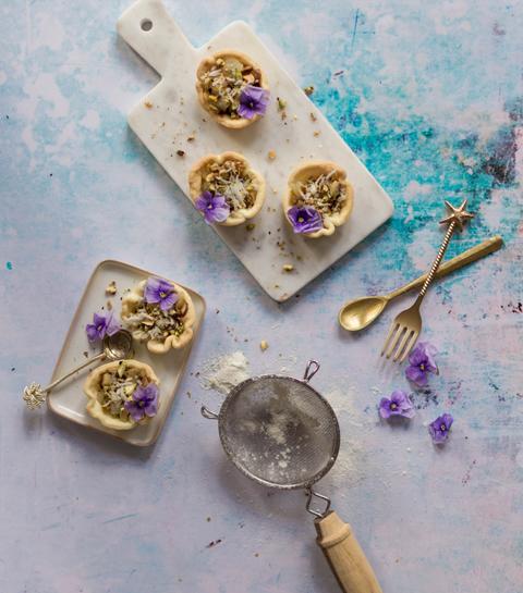 Tartelettes gourmandes aux poires confites