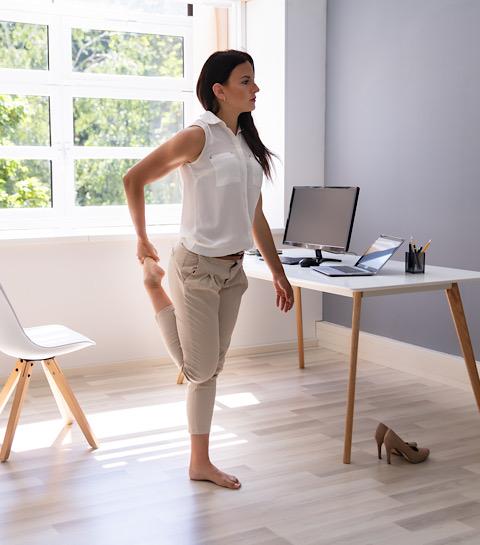 Étirement des muscles de la jambe