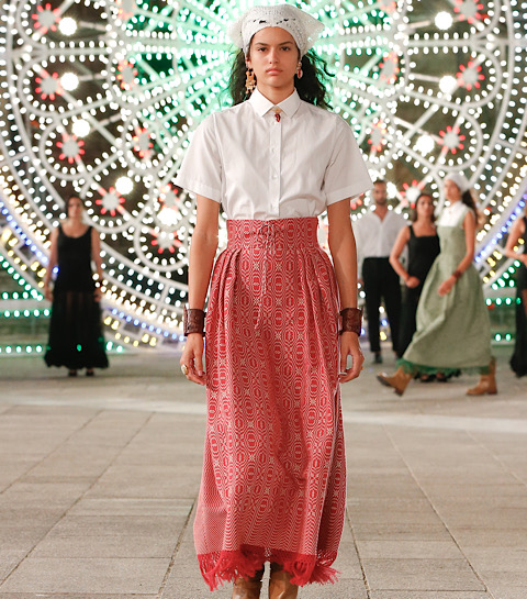 Collection Dior 2021 : jupe tissée