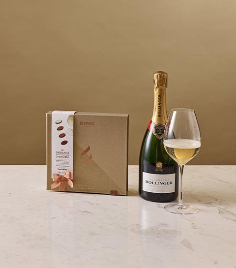 Neuhaus et champagne Bollinger