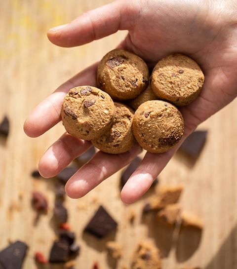 Les biscuits sans gluten sont à base de farine de sarrasin. © By Amandine Poli