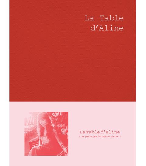 Livre la table d'Aline