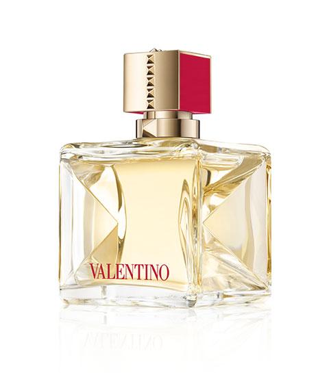 Flacon du nouveau parfum féminin Viva Voce de Valentino.