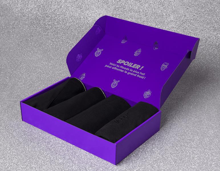 01 Pack ouvert – Fond glitter – Flocon 1