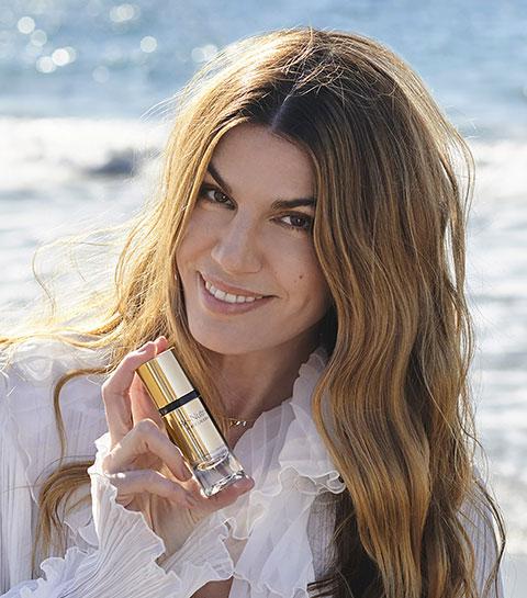 Bianca Brandolini d'Adda, nouvelle ambassadrice Estée Lauder, nous livre ses conseils beauté