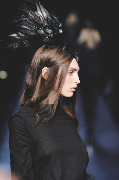 Paris Fashion Week look noir